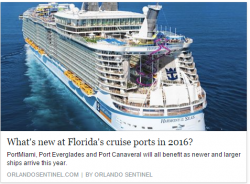 New at Florida Cruise Ports